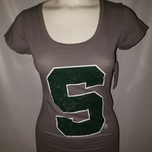 Women's Michigan State Spartans Blue 84 Green Top